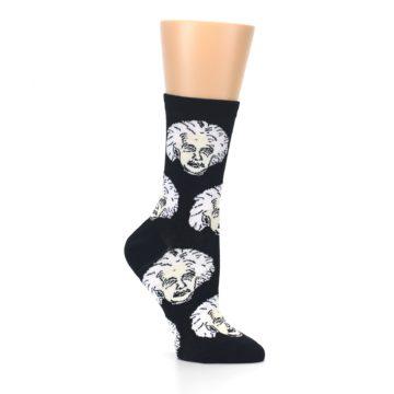 Image of Black White Einstein Women's Dress Socks (side-1-26)