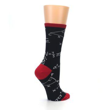 Image of Black White Math Equations Women's Dress Socks (side-1-23)