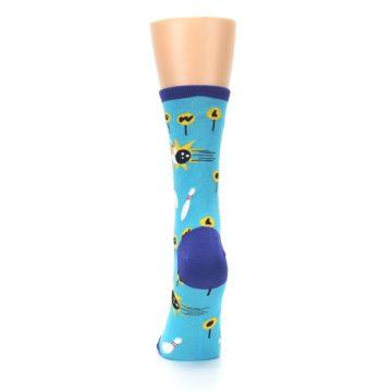 Image of Blue White Bowling Women's Dress Socks (back-18)