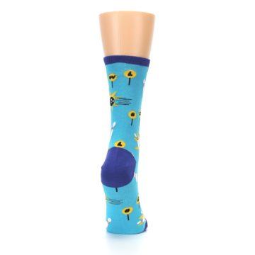 Image of Blue White Bowling Women's Dress Socks (side-1-back-20)