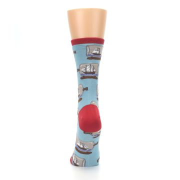Image of Blue Ship in a Bottle Women's Dress Socks (back-18)