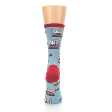 Image of Blue Ship in a Bottle Women's Dress Socks (back-19)