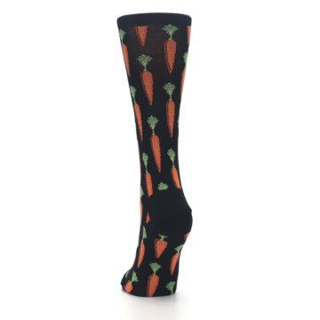 Image of Black Orange Carrots Women's Dress Socks (back-17)