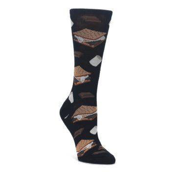 black brown s'mores women's novelty dress socks socksmith
