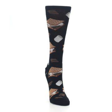 Image of Black Brown S'mores Women's Dress Socks (side-1-front-03)