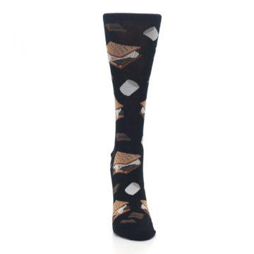 Image of Black Brown S'mores Women's Dress Socks (front-04)