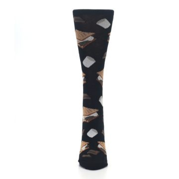 Image of Black Brown S'mores Women's Dress Socks (front-05)