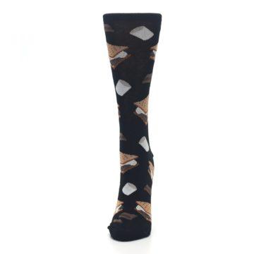 Image of Black Brown S'mores Women's Dress Socks (side-2-front-06)