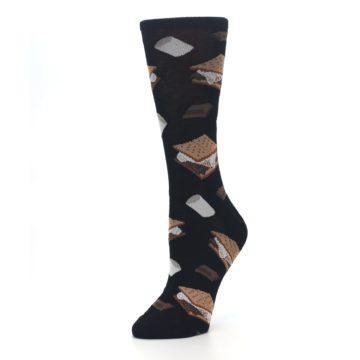 Image of Black Brown S'mores Women's Dress Socks (side-2-09)