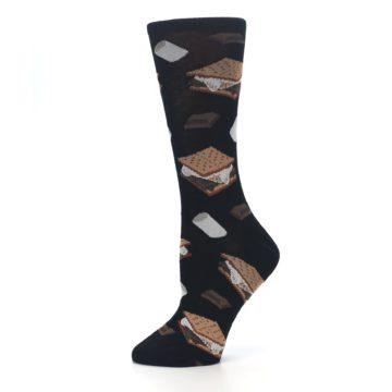 Image of Black Brown S'mores Women's Dress Socks (side-2-11)