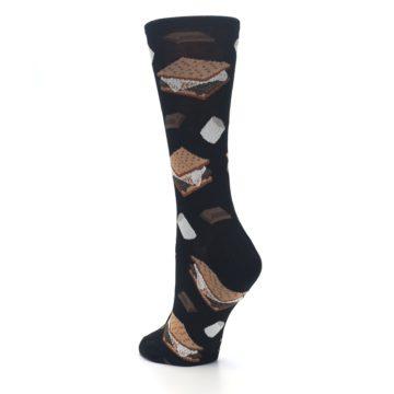 Image of Black Brown S'mores Women's Dress Socks (side-2-back-15)