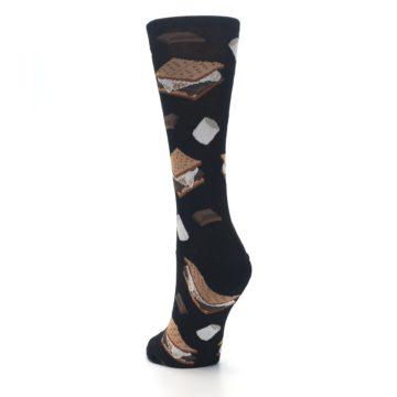 Image of Black Brown S'mores Women's Dress Socks (side-2-back-16)