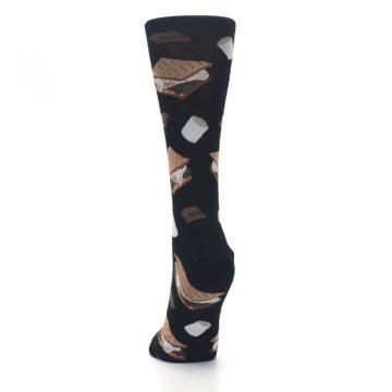Image of Black Brown S'mores Women's Dress Socks (back-17)