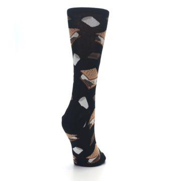 Image of Black Brown S'mores Women's Dress Socks (side-1-back-21)