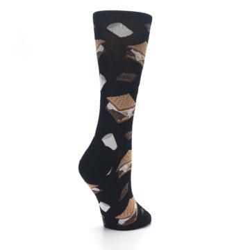 Image of Black Brown S'mores Women's Dress Socks (side-1-back-22)