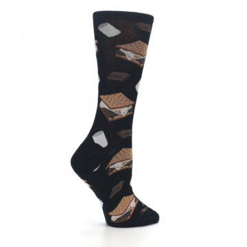 Image of Black Brown S'mores Women's Dress Socks (side-1-24)