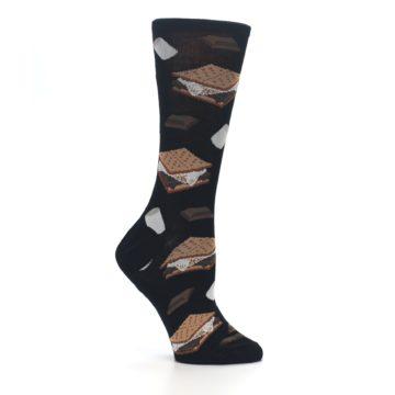 Image of Black Brown S'mores Women's Dress Socks (side-1-25)
