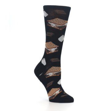 Image of Black Brown S'mores Women's Dress Socks (side-1-26)