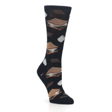 Image of Black Brown S'mores Women's Dress Socks (side-1-27)