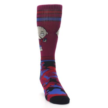 Image of Family Guy Stewie Camo Men's Casual Socks (side-1-front-03)