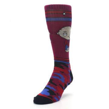 Image of Family Guy Stewie Camo Men's Casual Socks (side-2-front-07)