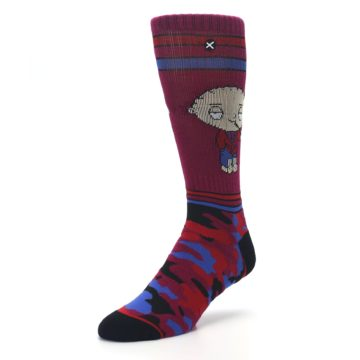 Image of Family Guy Stewie Camo Men's Casual Socks (side-2-front-08)