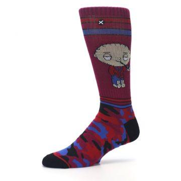 Image of Family Guy Stewie Camo Men's Casual Socks (side-2-10)