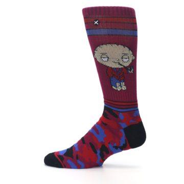 Image of Family Guy Stewie Camo Men's Casual Socks (side-2-12)