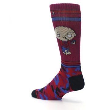 Image of Family Guy Stewie Camo Men's Casual Socks (side-2-back-14)