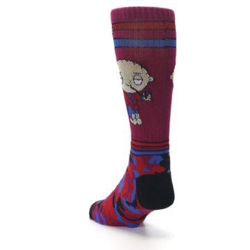 Image of Family Guy Stewie Camo Men's Casual Socks (side-2-back-16)