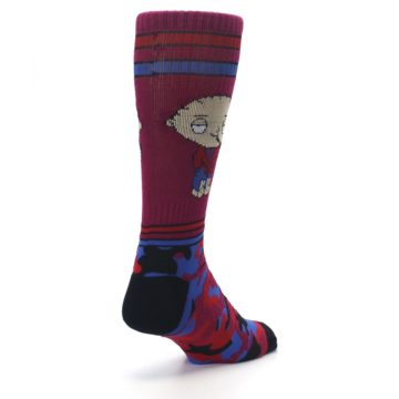 Image of Family Guy Stewie Camo Men's Casual Socks (side-1-back-21)