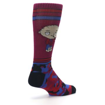 Image of Family Guy Stewie Camo Men's Casual Socks (side-1-back-22)