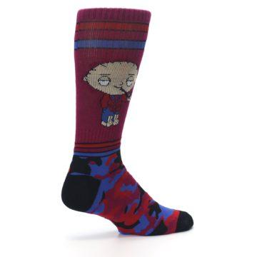 Image of Family Guy Stewie Camo Men's Casual Socks (side-1-23)