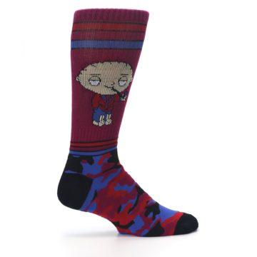 Image of Family Guy Stewie Camo Men's Casual Socks (side-1-24)