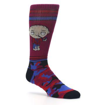 Image of Family Guy Stewie Camo Men's Casual Socks (side-1-26)
