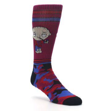 Image of Family Guy Stewie Camo Men's Casual Socks (side-1-27)