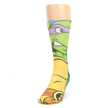Image of Ninja Turtles Donatello Men's Casual Socks (side-2-front-06)