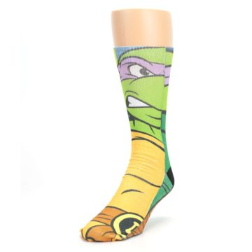 Image of Ninja Turtles Donatello Men's Casual Socks (side-2-front-07)
