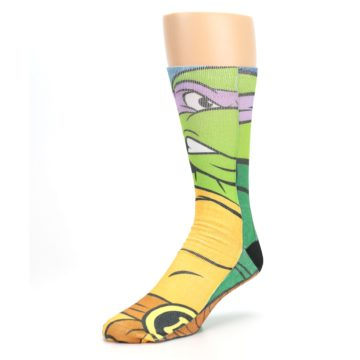 Image of Ninja Turtles Donatello Men's Casual Socks (side-2-front-08)