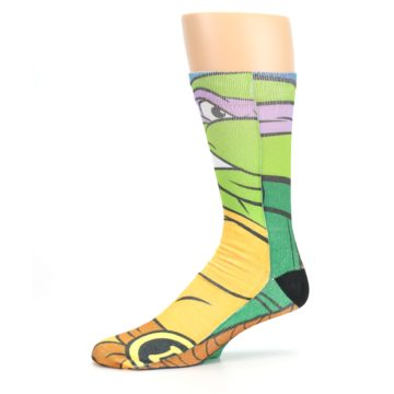 Image of Ninja Turtles Donatello Men's Casual Socks (side-2-10)