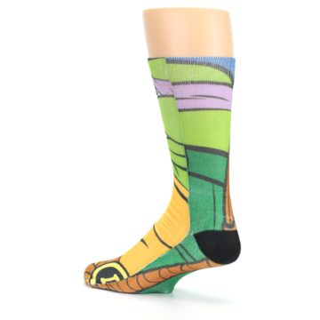 Image of Ninja Turtles Donatello Men's Casual Socks (side-2-back-14)