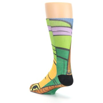 Image of Ninja Turtles Donatello Men's Casual Socks (side-2-back-15)