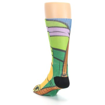 Image of Ninja Turtles Donatello Men's Casual Socks (side-2-back-16)