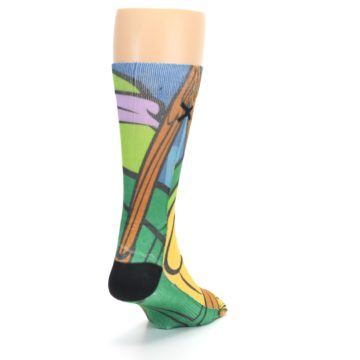 Image of Ninja Turtles Donatello Men's Casual Socks (side-1-back-20)