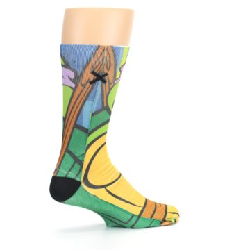 Image of Ninja Turtles Donatello Men's Casual Socks (side-1-23)