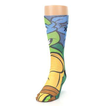 Image of Ninja Turtles Leonardo Men's Casual Socks (side-2-front-06)