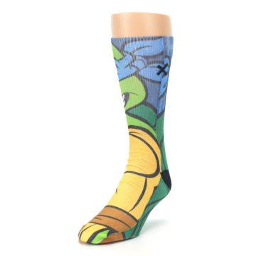 Image of Ninja Turtles Leonardo Men's Casual Socks (side-2-front-07)