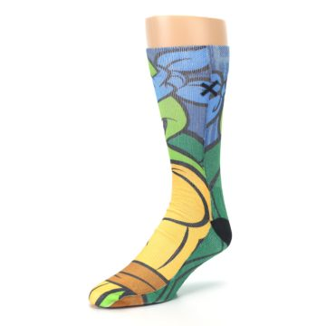 Image of Ninja Turtles Leonardo Men's Casual Socks (side-2-front-08)