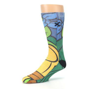 Image of Ninja Turtles Leonardo Men's Casual Socks (side-2-09)