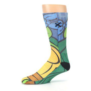 Image of Ninja Turtles Leonardo Men's Casual Socks (side-2-10)